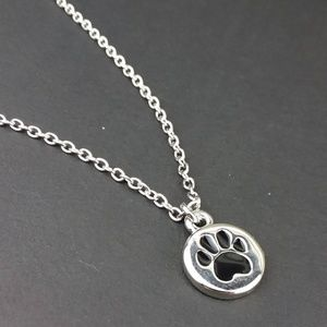 Paw Charm Silve Tone Chain Necklace